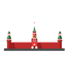 russian main landmark with cone roofs and star on vector image