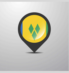 saint vincent and grenadines map pin vector image