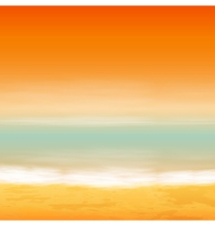 Sea sunset vector image
