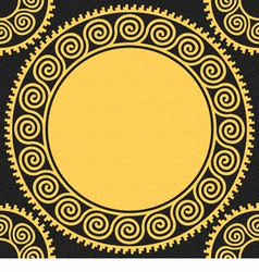 Seamless golden Greek ornament Meander vector