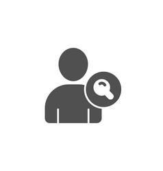 Search user simple icon profile avatar sign vector