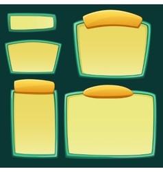 set cartoon empty boards vector image