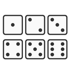 Set dice icon six dice vector
