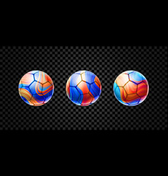 set of abstract 3d balls for football vector image