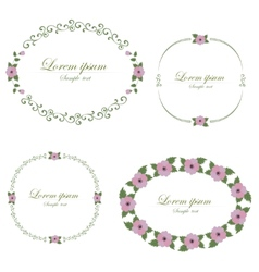 Set of flowers design elements vector