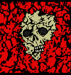Skull covered with ground vector