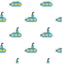 Submarine pattern flat vector