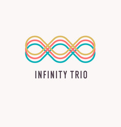 the shows infinity sign modern vector image