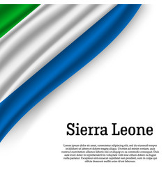 Waving flag of sierra leone vector