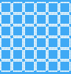 white squares on blue background geometric pattern vector image