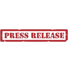 Press release stamp vector image