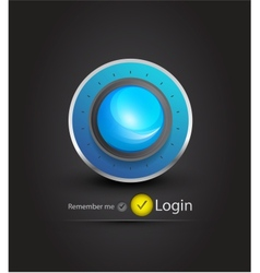 sphere login page vector image