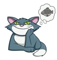 Cat dream 2 vector image