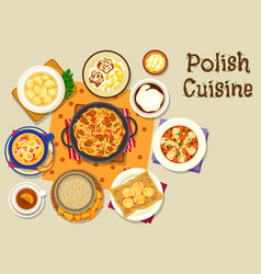 polish cuisine lunch icon for menu design vector image vector image