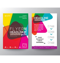 Abstract colorful Brochure Flyer design Layout vector image