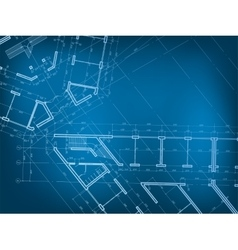 Architectural background Plan of the house vector image