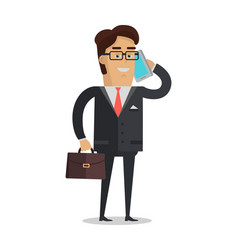 businessman character in flat vector image vector image