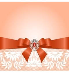 Lace with bow vector image vector image