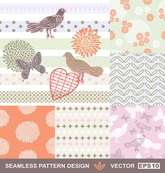 Retro style seamless fabric vector image