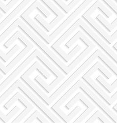 White 3d fastened spirals vector