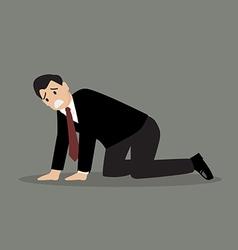 Desperate businessman vector image vector image