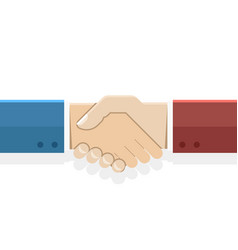 handshake partnership symbol businessman flat vector image
