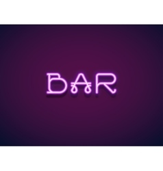 Neon Lettering vector image