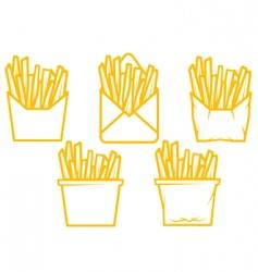Potato fast food vector
