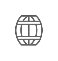 simple barrel line icon symbol and sign vector image