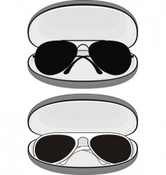 sunglasses in cases vector image