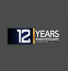 12 years anniversary logotype with blue vector