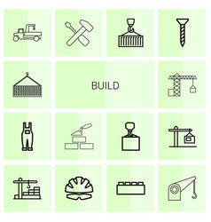 14 build icons vector image