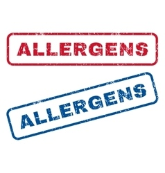 Allergens Rubber Stamps vector