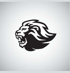 angry lion icon logo template vector image