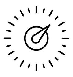Arrow speedometer icon outline style vector