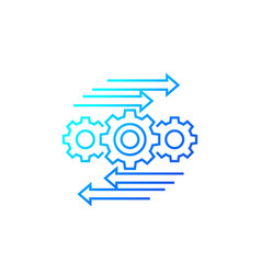 Automation and optimization process line icon vector