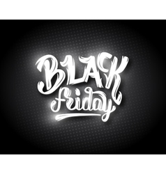 Black Friday sale background with bokeh vector image