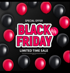 Black friday sale banner template vector