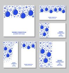 blue ball set vector image