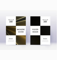 business cover design template set gold abstract vector image