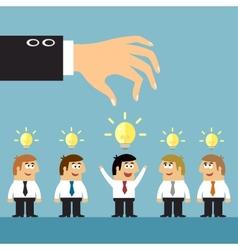 Business ideas selection concept vector