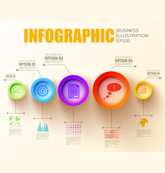business step infographic concept vector image