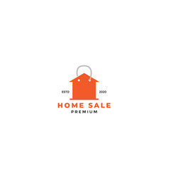 Buy home or house or real estate with shop bag vector