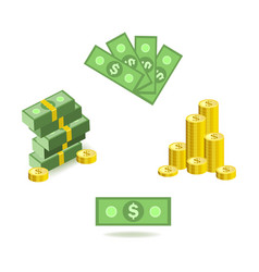 cartoon set of bill money currency images with vector image