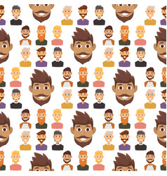 Character expressions bearded man face seamless vector