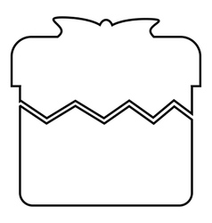 Christmas box icon outline style vector image