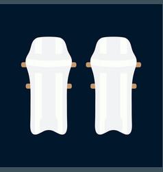 Color icon british cricket defense knee vector