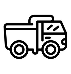 Construction truck icon outline style vector
