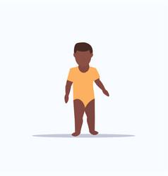 cute baboy infant standing toddler childhood vector image
