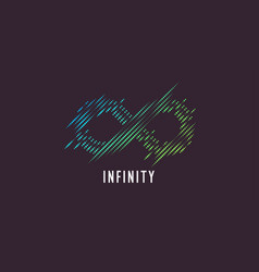 Dynamic lines form a sign infinity vector